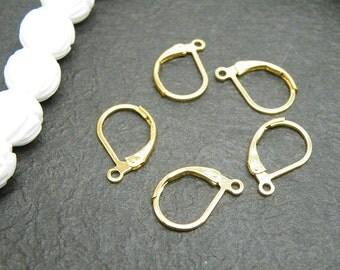 Earwire 20pcs 15x12mm Golden Color  Earwire M36--20% OFF