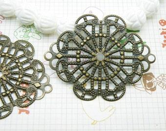 10pcs 35x45mm Antique Bronze Color Filigree Wire Wrap Base S112--20% OFF