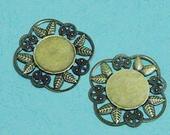Cameo Setting 10pcs 20mm Antique Bronze Cabochons Settings Cameo Base S31--20% OFF