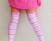 Tie Dye Leggings (Thigh High Socks) in Pink Lemonade