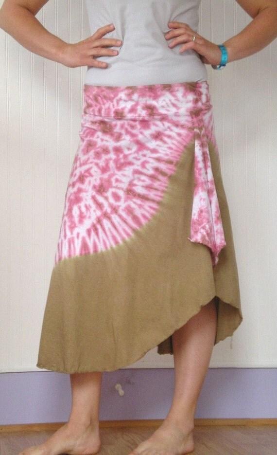 Tie Dye Skirt in Butterscotch Flow--Reserved