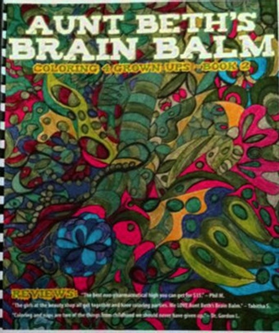 Coloring Book for Grownups: Aunt Beth's Brain Balm - Book 2