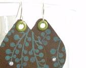 NEW Eco Lotus Leather Earrings