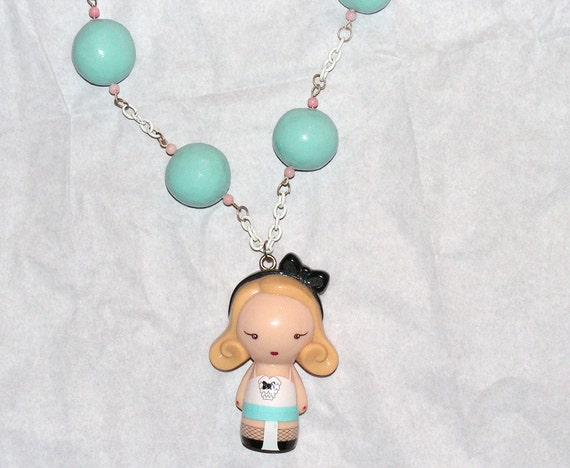 Harajuku Doll Necklace clay beads Gwen Stefani perfume Girl