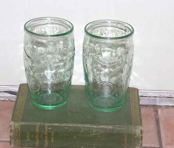 Vintage Lemonade Drinking Glasses Made In Italy Beverage