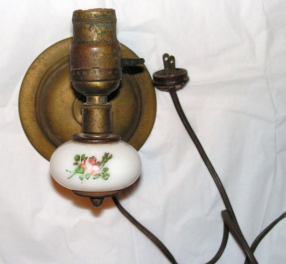 Vintage Wall Sconces Electric: Items Similar To Antique Wall Light Lamp Sconce Electric