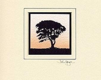 Beech Tree Hand-Cut Papercut