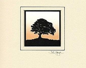 Oak Tree Hand-Cut Papercut