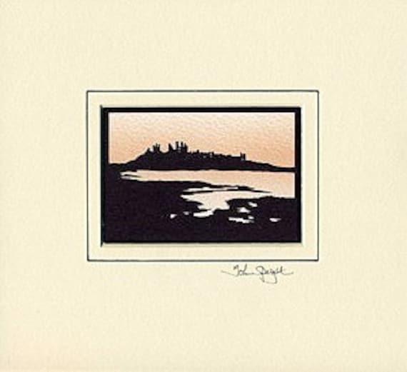 Dunstanburgh Castle (UK) Hand-Cut Papercut