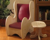 "Special Order for DS  2 Kids'  Wooden Upholstered Winged Back Chair, & 1 - 36"" couch, same style with coffee table included."