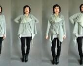 QUINN Grey Heather knit Cardigan Transformable Snap n Wrap SMALL\/MEDIUM Ready to Ship