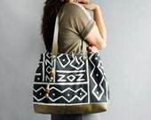 ETCH - Tribal Inspired Reclaimed Fabric Leather Tote