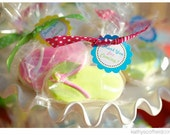 Beach Party Printable Favor Tags by The TomKat Studio