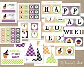 Halloween Party Printable Collection - Cupcake Decorating - The TomKat Studio