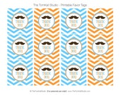 PRINTABLE Favor Tags - Little Man Party or Baby Shower Collection - The TomKat Studio