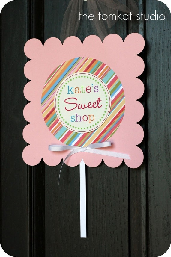 PRINTABLE 6 INCH PARTY CIRCLES - Yummy Lollipop Party Collection - DIY by The TomKat Studio