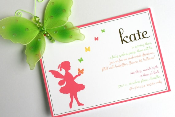 PRINTABLE INVITATION DESIGN - Fairy Garden Birthday Party Collection - The TomKat Studio