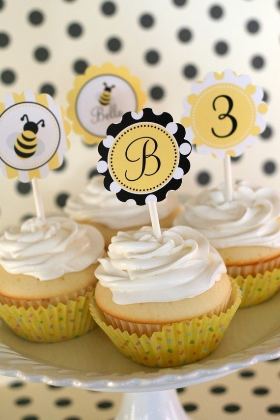 PRINTABLE PARTY CIRCLES - Bumble Bee Collection - DIY by The TomKat Studio