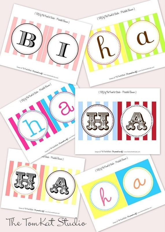 custom happy birthday banner your choice of colors fonts. Black Bedroom Furniture Sets. Home Design Ideas