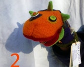 Monster Hand Puppets - ONLY no. 2 and no. 3 LEFT