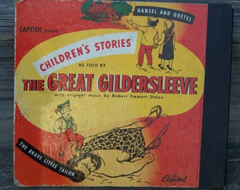 Vintage Children's Stories as told by The Great Gildersleeve on 78 Records Great Graphics