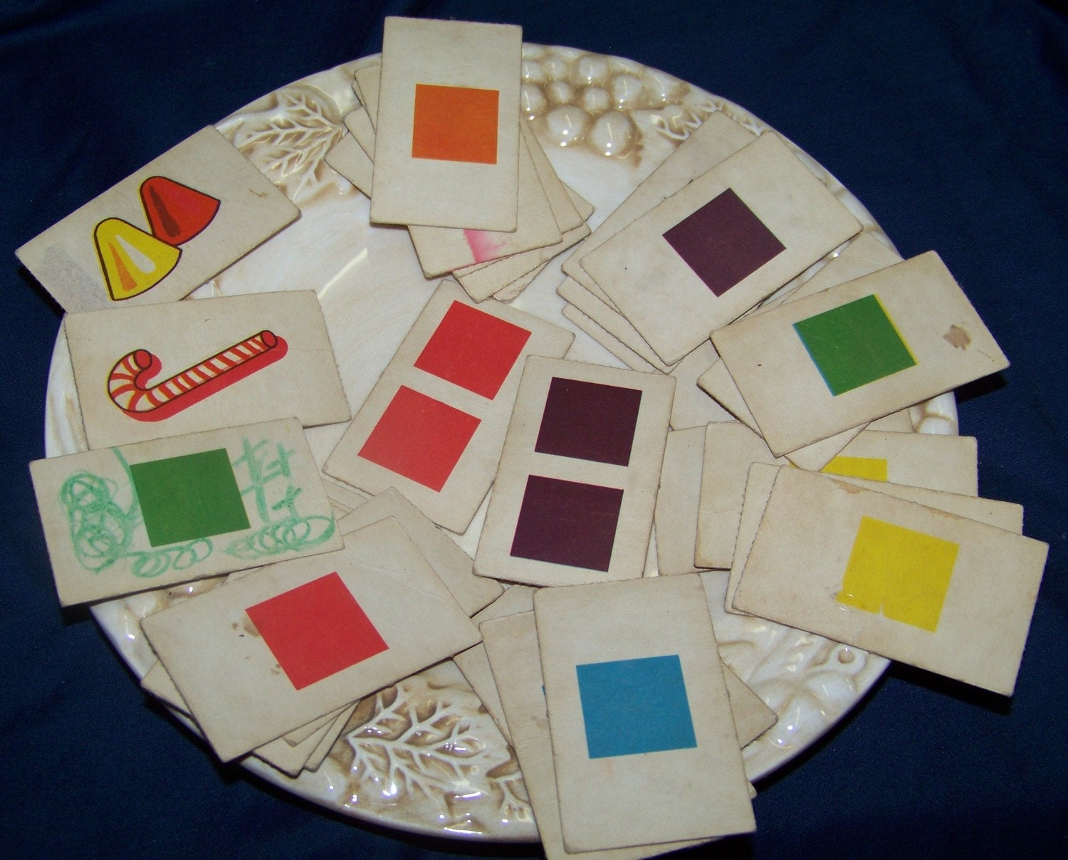 Game color squares -  Vintage Candyland Color Squares Game Cards Free Shipping Zoom
