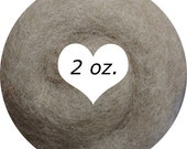 Dream Felt Premium Wool Batt Norwegian C1 Needle Felt Taupe 2 oz.