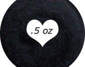 Dream Felt Premium Wool Batt Norwegian C1 Needle Felt Black .5 oz.