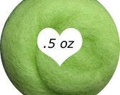 Dream Felt Premium Wool Batt Norwegian C1 Needle Felt Lemon Lime .5 oz.