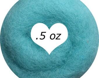Dream Felt Premium Wool Batt Norwegian C1 Needle Felt Aqua .5 oz