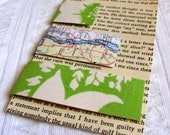S-M-L  Fabric Covered Magnetic Page Markers    spring green\/map mix