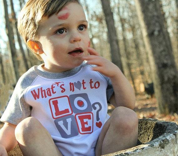 Funny Valentine Romper Baby Boy Crawler Gray Raglan Sleeve nfant Bodysuits to Kids Tees