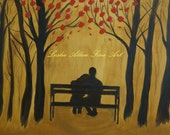 """Couple In Love Couple Couples Romance Romantic Dating  Painting """"Lean On Me"""" Original 18x24"""