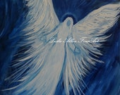 """Angel Paintings Angels Painting  Religious Inspirational Spiritual Communion Baptism Wedding Blessing  """"Always Here"""""""