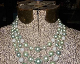 1950s Green Goddess Necklace