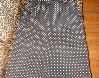 Vintage 1970's 1980's Jaeger Pencil Skirt With Tiny Hearts Heart Print