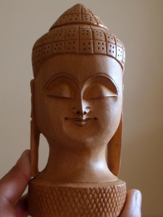 Buddha Statue Sculpture - Classic - Wooden - Reserved for gceleb85