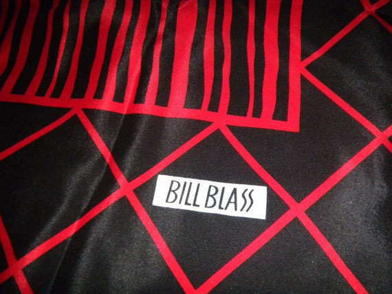 Vintage Colorful Scarf Silk Bill Blass