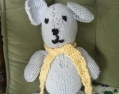 Snuggly Cuddly Soft Gray Mouse With Yellow  Scarf