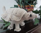 Cute Cuddly Crochet Beautiful Gray Armadillo With Black Beautiful Eyes