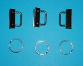 Silvertone Keyfob Hardware Set