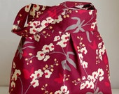 Orchid Mulberry Fabric Pleated Hobo Handbag / Purse - READY TO SHIP