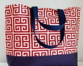 Towers Red XL Extra Large Beach Bag / BIG Tote Bag - Ready to Ship