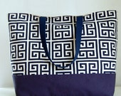Towers Navy XL Extra Large Beach Bag / BIG Tote Bag - Ready to Ship