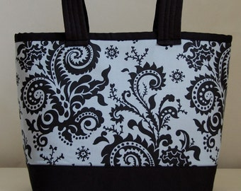 Wood Fern Nickel Fabric Tote Bag - READY TO SHIP