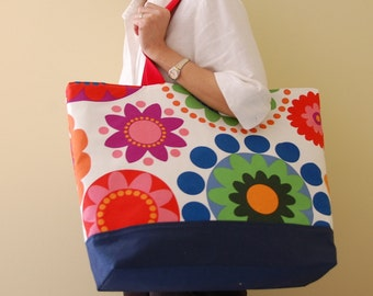 Fredrika XL Extra Large Beach Bag / BIG Tote Bag - Ready to Ship