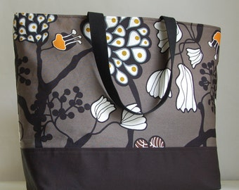 Funky Tree XL Extra Large Beach Bag / BIG Tote Bag - Ready to Ship