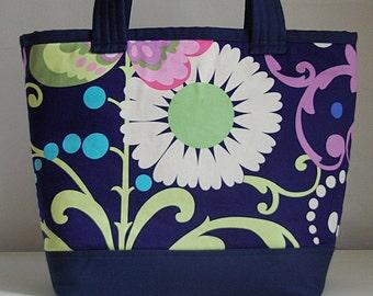 Paradise Garden Midnight Fabric Tote Bag - READY TO SHIP