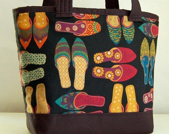 Fancy Shoes Fabric Tote Bag - READY TO SHIP