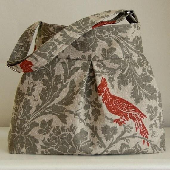 Red Bird Pleated Hobo 42